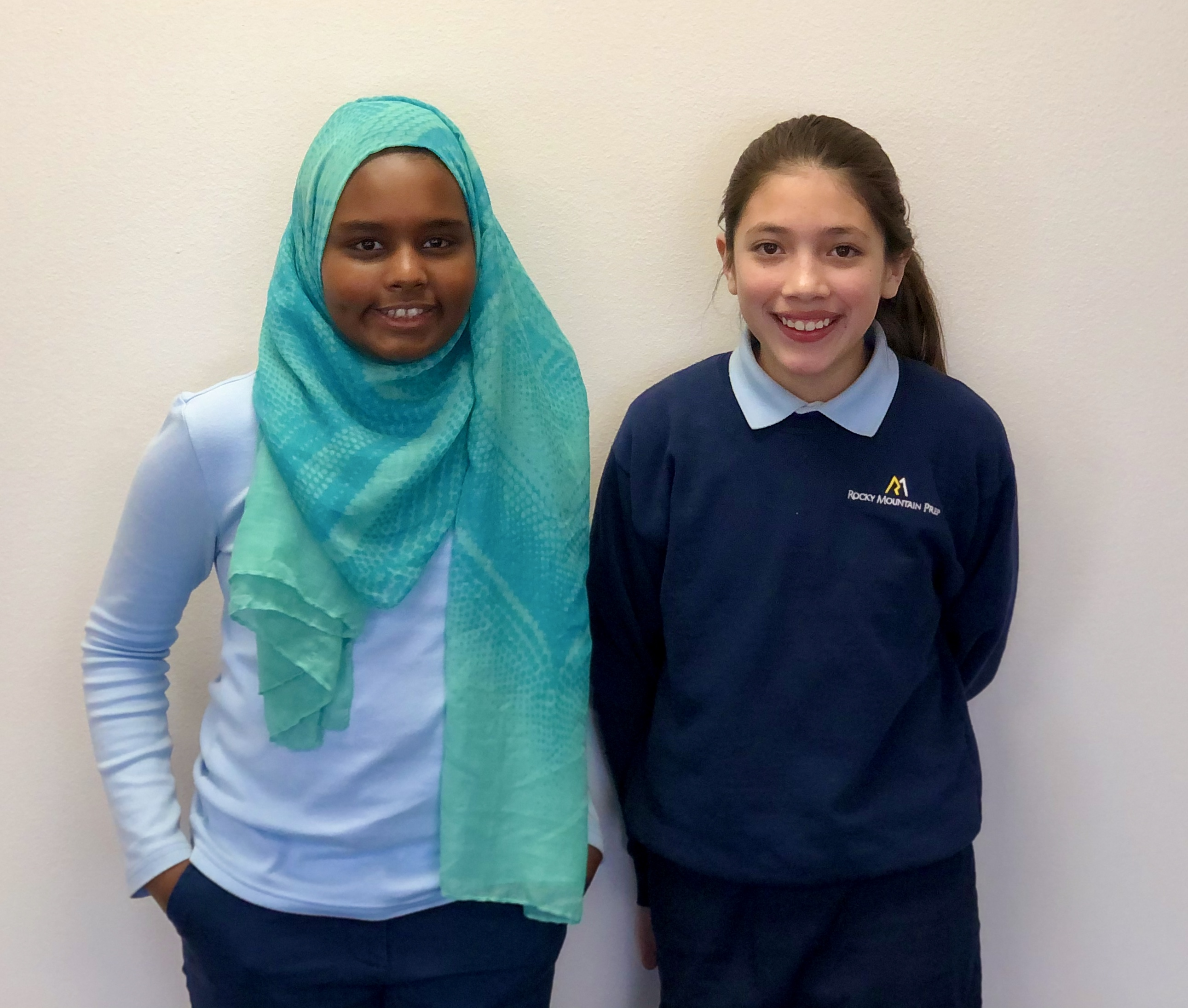 Akleema and Malyah, RMP Creekside Fifth-Grade Students